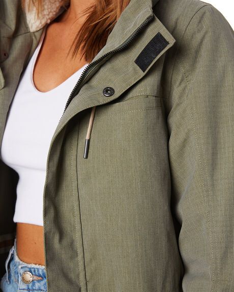 OLIVE WOMENS CLOTHING RIP CURL JACKETS - GJKAW90058