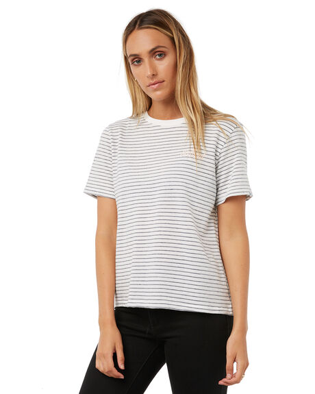 WHITE WOMENS CLOTHING ELEMENT TEES - 286002AWHT