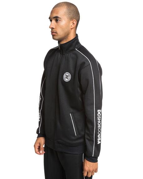 BLACK MENS CLOTHING DC SHOES JUMPERS - EDYFT03424-KVJ0