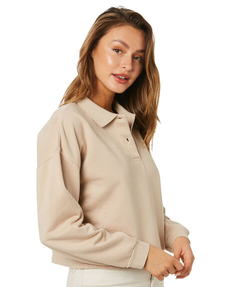 TAUPE WOMENS CLOTHING STUSSY JUMPERS - ST115306TAUPE