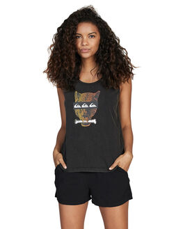 BLACK WOMENS CLOTHING QUIKSILVER SINGLETS - EQWKT03028-KVJ0