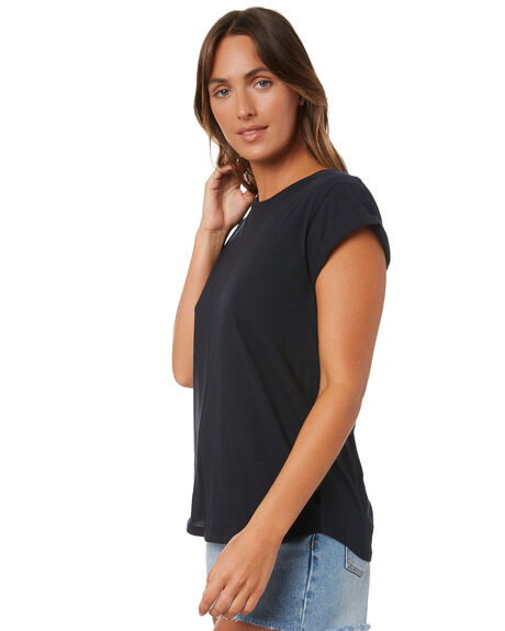 BLACK WOMENS CLOTHING SILENT THEORY TEES - 6008046BLK