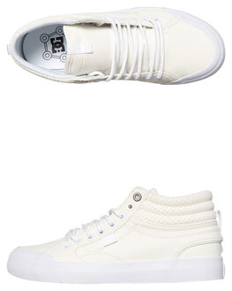 WHITE WOMENS FOOTWEAR DC SHOES SNEAKERS - ADJS300182WHT