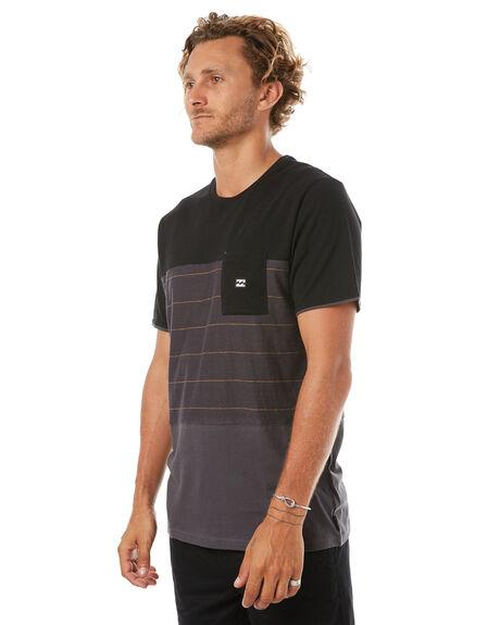 BLACK MENS CLOTHING BILLABONG TEES - 9585018BLK