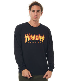 BLACK MENS CLOTHING THRASHER TEES - 20165034BLK