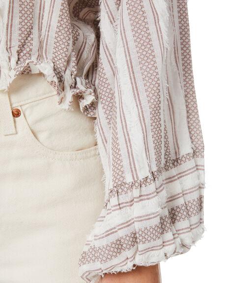 NATURAL WOMENS CLOTHING TIGERLILY FASHION TOPS - T305035NAT
