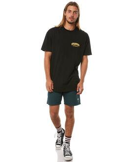 BLACK MENS CLOTHING STUSSY TEES - ST081002BLK