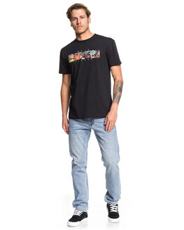 BLACK MENS CLOTHING QUIKSILVER TEES - EQYZT05473-KVJ0