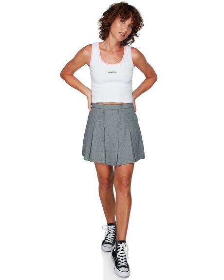 WHITE WOMENS CLOTHING RVCA SINGLETS - RV-R292702-WHT