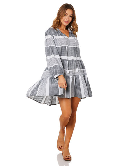 BLACK WOMENS CLOTHING SEAFOLLY DRESSES - 54477-DRBLK