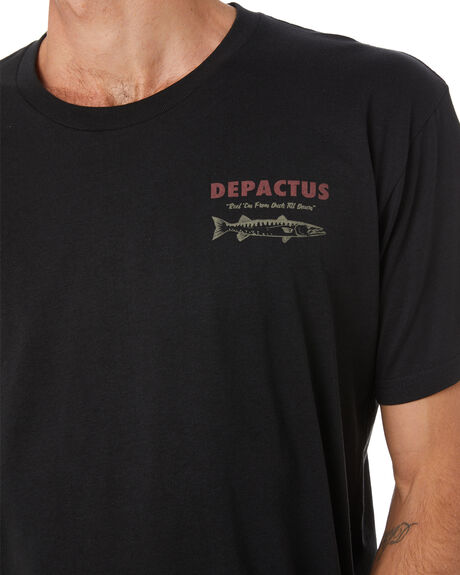 BLACK MENS CLOTHING DEPACTUS TEES - D5204003BLK