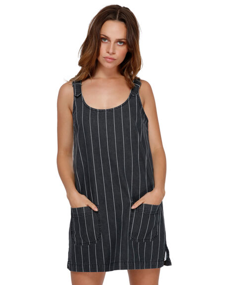 BLACK WOMENS CLOTHING RVCA DRESSES - RV-R291752-BLK