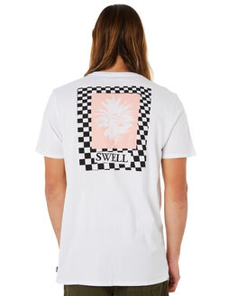 WHITE OUTLET MENS SWELL TEES - S5184025WHITE
