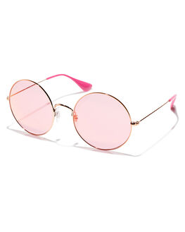 SHINY COP PINK WOMENS ACCESSORIES RAY-BAN SUNGLASSES - 0RB35929035F6
