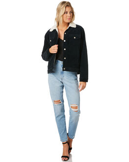 BLACK WOMENS CLOTHING DR DENIM JACKETS - 1931103102BLK