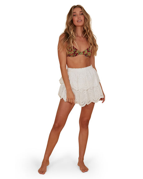 WHITE WOMENS CLOTHING BILLABONG SKIRTS - BB-6507697M-WHT