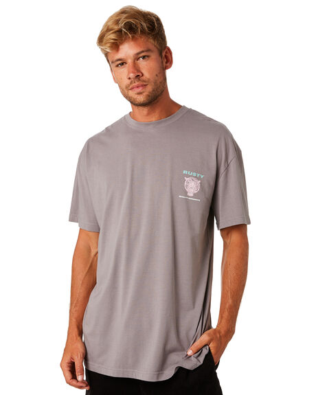 STONE GREY MENS CLOTHING RUSTY TEES - TTM2097SOG