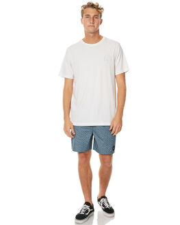SILVER BLEACH MENS CLOTHING RVCA TEES - R171059SBLCH