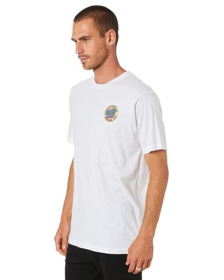 WHITE MENS CLOTHING SANTA CRUZ TEES - SC-MTD0911WHT