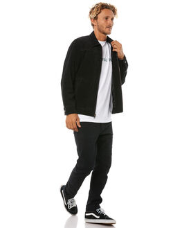BLACK MENS CLOTHING THE CRITICAL SLIDE SOCIETY JACKETS - JK1804BLK