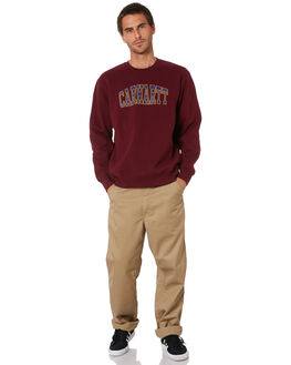MERLOT MENS CLOTHING CARHARTT JUMPERS - I02703005F