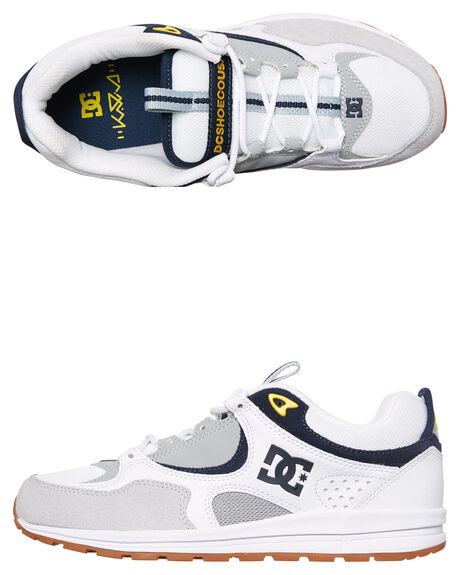 WHITE GREY YELLOW MENS FOOTWEAR DC SHOES SNEAKERS - ADYS100291WYY