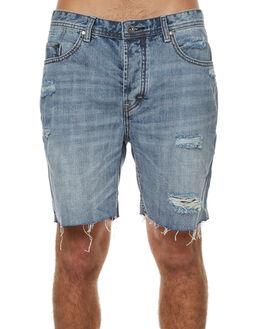 DESTROYED INDIGO MENS CLOTHING BARNEY COOLS SHORTS - 603-MC3DEIND