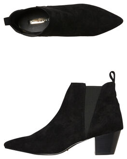 BLACK SUEDE WOMENS FOOTWEAR BILLINI BOOTS - B924BLK