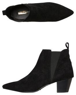 BLACK SUEDE WOMENS FOOTWEAR BILLINI BOOTS - B924BLK