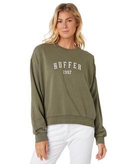 KHAKI WOMENS CLOTHING HUFFER JUMPERS - WCR91S47-342KHA