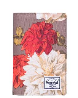 VINTAGE FLORAL PINE WOMENS ACCESSORIES HERSCHEL SUPPLY CO PURSES + WALLETS - 10399-03274-OSVTGBK