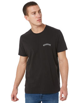 WASHED BLACK MENS CLOTHING WRANGLER TEES - W901693M84WSBLK
