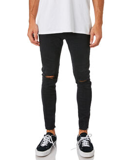 SMOKEY BLACK MENS CLOTHING A.BRAND JEANS - 807602375