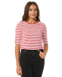 RED W WHITE WOMENS CLOTHING THE FIFTH LABEL TEES - 40180337-5RED