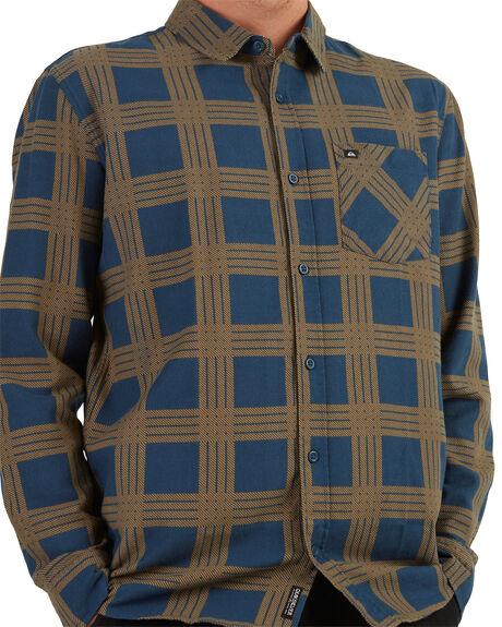 INSIGNIA BLUE BRAVO MENS CLOTHING QUIKSILVER SHIRTS - UQYWT03052-BSN6