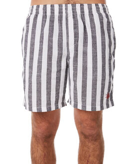 BLACK MENS CLOTHING STUSSY BOARDSHORTS - ST082605BLK