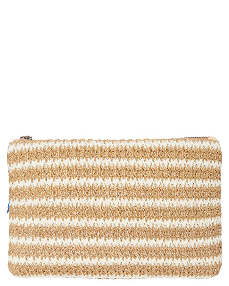 WHITE STRIPE WOMENS ACCESSORIES TIGERLILY PURSES + WALLETS - T491834WHI