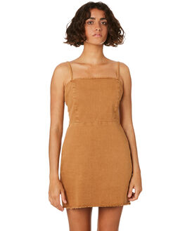 TOBACCO WOMENS CLOTHING THRILLS DRESSES - WTDP-924JTOB