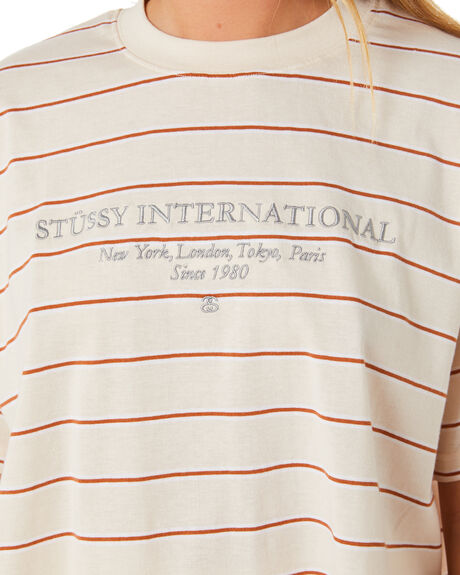SAND WOMENS CLOTHING STUSSY TEES - ST106101SAND