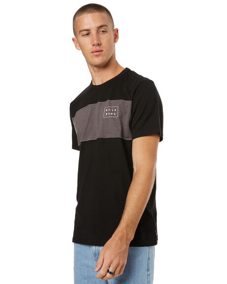 BLACK MENS CLOTHING BILLABONG TEES - 9585019BLK