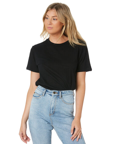 BLACK WOMENS CLOTHING SWELL TEES - S8201006BLK