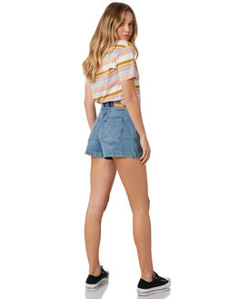 DEBARRES BLUE WOMENS CLOTHING WRANGLER SHORTS - W-951480-LQ1