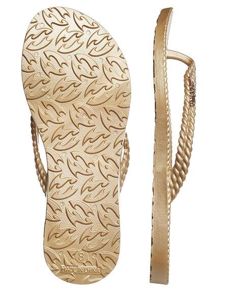 GOLD WOMENS FOOTWEAR BILLABONG THONGS - 6661858GLD