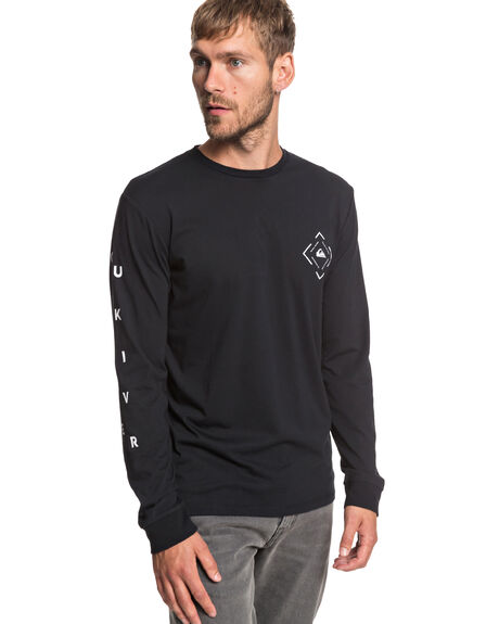 BLACK MENS CLOTHING QUIKSILVER TEES - EQYZT05241-KVJ0
