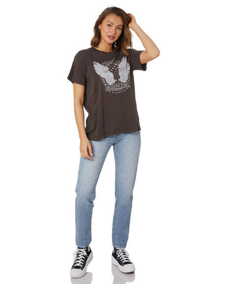 WASHED BLACK WOMENS CLOTHING ALL ABOUT EVE TEES - 6474071WBLK