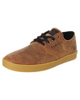 BROWN MENS FOOTWEAR EMERICA SKATE SHOES - 6102000089204