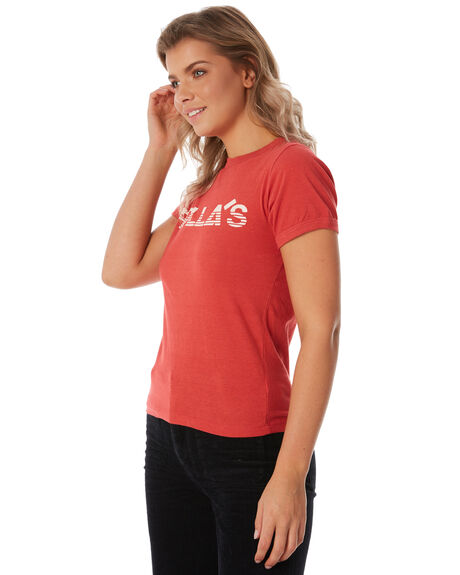 RED WOMENS CLOTHING ROLLAS TEES - 12644160
