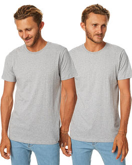 GREY MARLE MENS CLOTHING GLOBE TEES - GB00931022GRY
