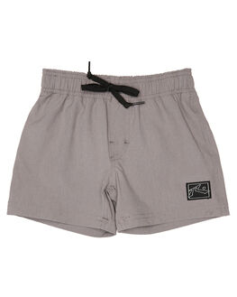 STONE GREY KIDS BOYS RUSTY BOARDSHORTS - BSR0245SOG