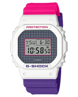 WHITE MENS ACCESSORIES G SHOCK WATCHES - DW-5600THB-7DRWHT